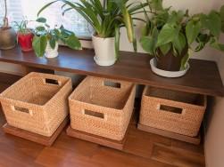 お雛様などを置けるウォールナットのチェスト ~浜松市の新築一戸建て注文住宅 マルベリーハウス